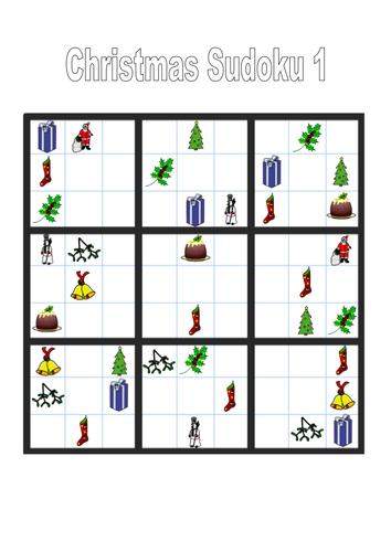 Christmas Sudoku.Christmas Themed Sudoku Puzzles