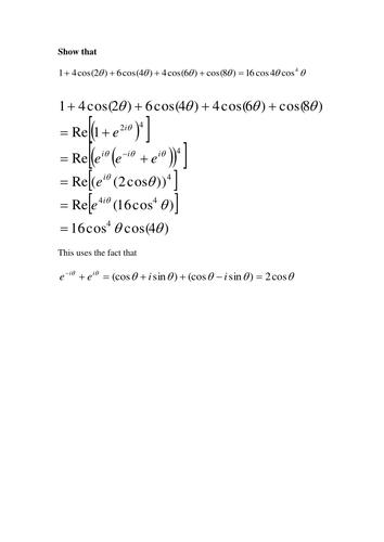 Extension worksheet