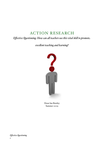 Questioning Research