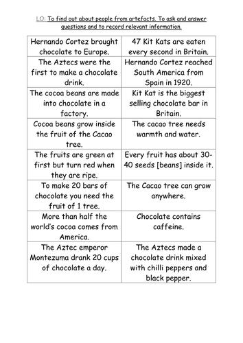 Chocolate Aztec Resources Part 1 By Paris0504 Teaching