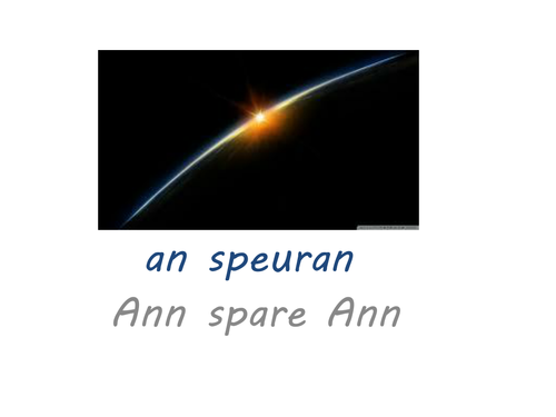 Space in Gaelic and French