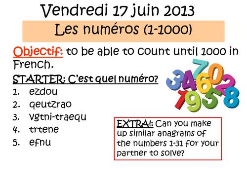 Les numeros (1-1000)