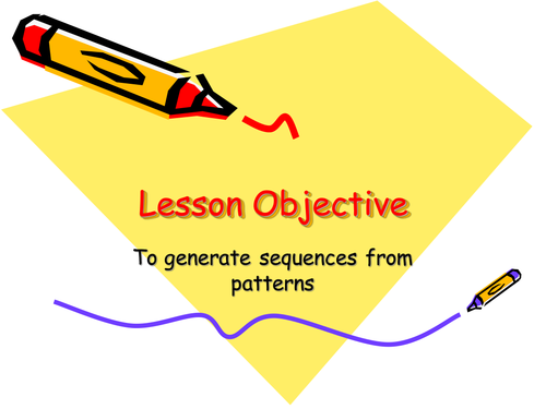 Y8 Sequences from patterns by kalgebra | Teaching Resources
