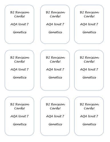 Aqa gcse science bbc bitesize revision checklist by lauh88 b2 revision flash cards urtaz Images