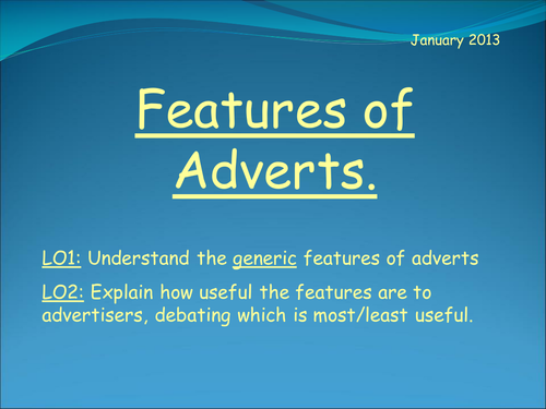 Features of Adverts