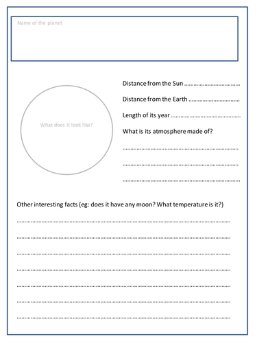 planet fact file research task by penny corp teaching resources tes