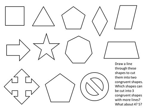 Congruent Cuts Starter By Tristanjones Teaching Resources Tes