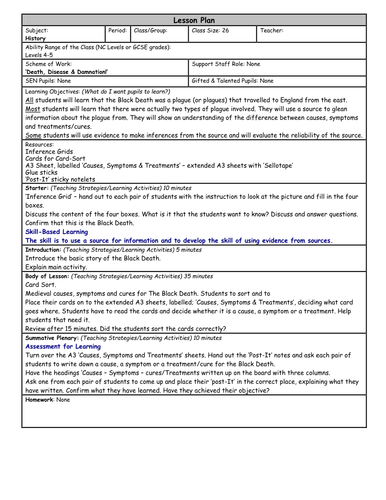 the black death by emily thomas teaching resources tes