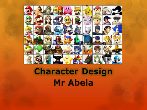 Design a Computer Game Character