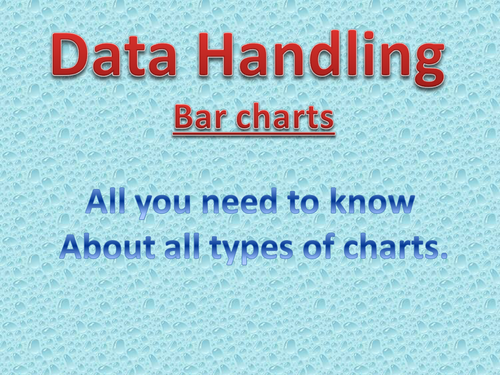 bar and pie charts ppt