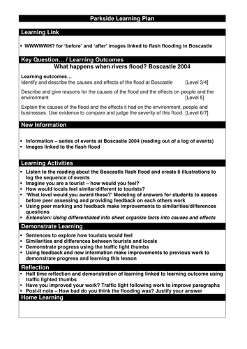 A Level Geography - Flood Case Studies (Boscastle and ...