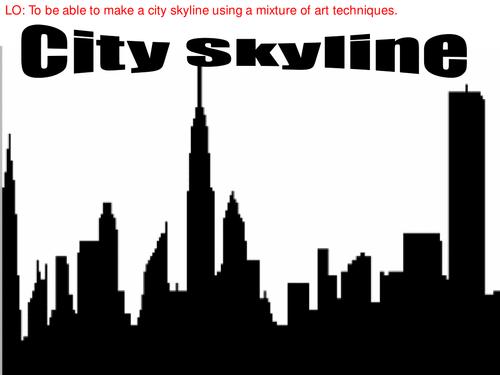 Line Art Ks2 : City skyline art by emzel teaching resources tes