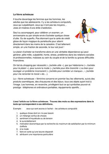 AS French -  Culture Populaire -La Fièvre Achteuse