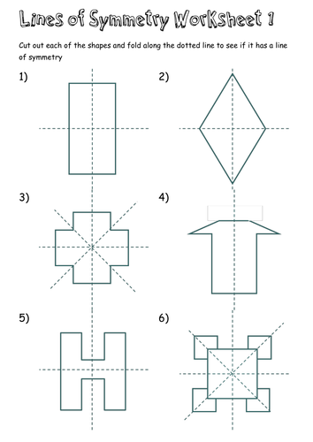 Lines of Symmetry Worksheets