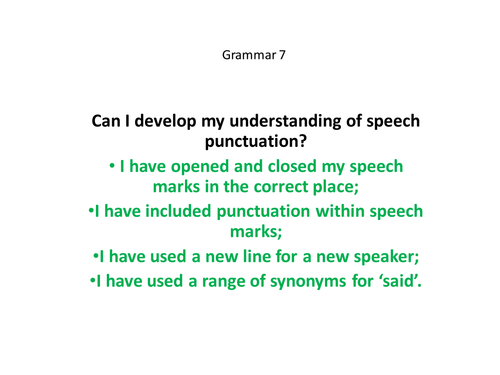 Yr 56 Speech Punctuation by matthewgreg Teaching Resources TES – Punctuating Dialogue Worksheet