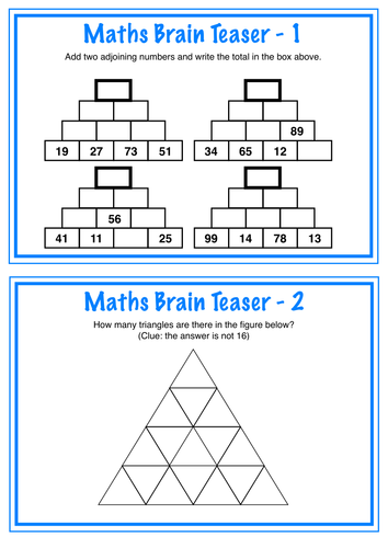 Maths Brain Teasers