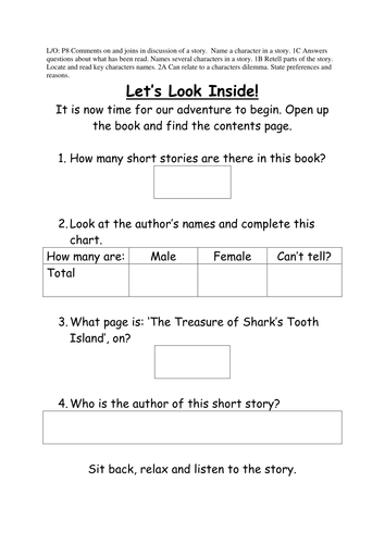 Pirate Short Stories - Reading & Writing