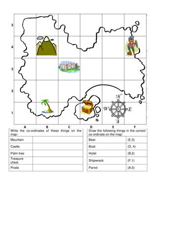 Co Ordinates Map By Emmaj18 Teaching Resources Tes