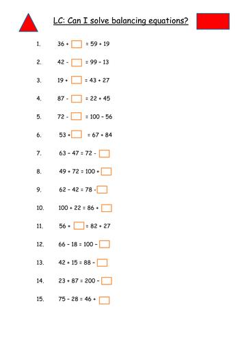 Common Worksheets » Missing Number Worksheets Ks2 - Preschool and ...
