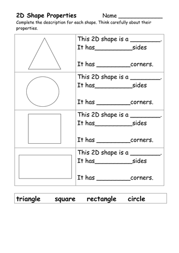 Properties of Basic 2D Shapes - Flash Cards by ...