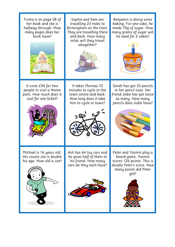 Doubles and Halves Word Problems by julianne26 - Teaching ...