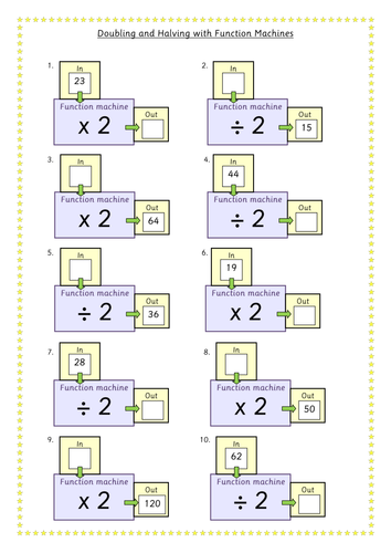 Doubling And Halving Function Machines By Juliannebritton Teaching