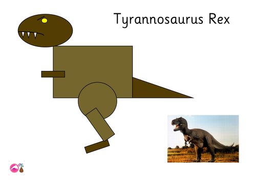 Dinosaur Shape Picture: T-Rex & Pterodactyl