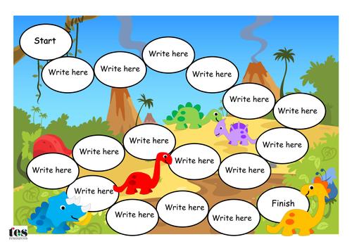 Classroom Bulletin Board Ideas High School ~ Create your own dinosaur board game by tesspecialneeds