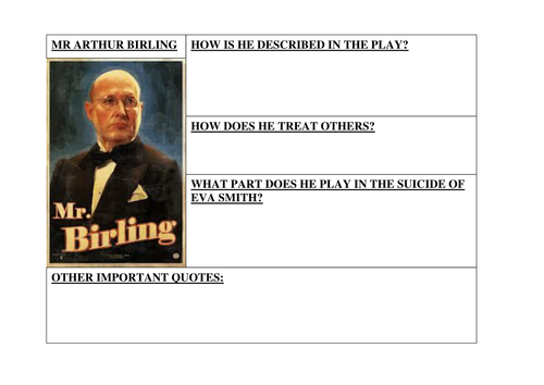 arthur birling analysis