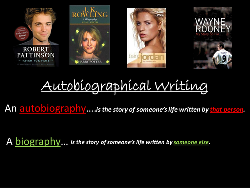 Autobiography PowerPoint Lesson