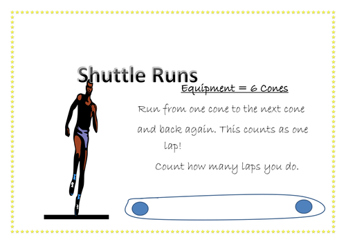 Circuit Training Activity Cards and Record Sheet