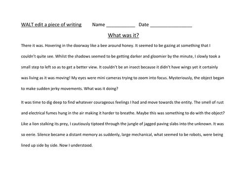 Editing Writing Making It More Interesting By Alarter Teaching