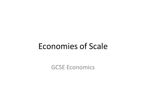 Revision for GCSE Economics