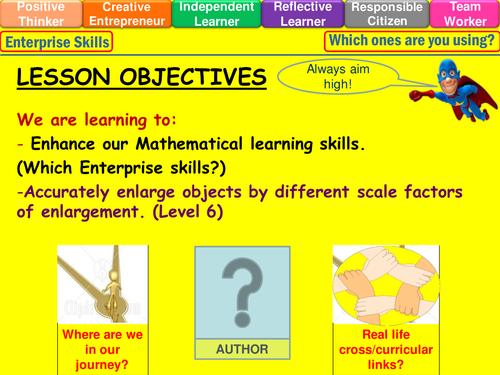 Enlargement of shapes level 6 lesson