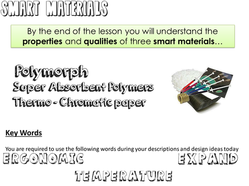 Smart Materials Design lesson