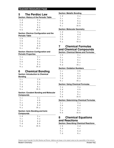 Chemical Bonding Test Key And Worksheets By Adnanansari