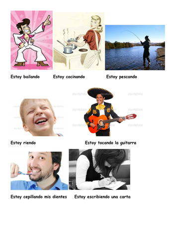 Charades Spanish -  Present Continuous tense