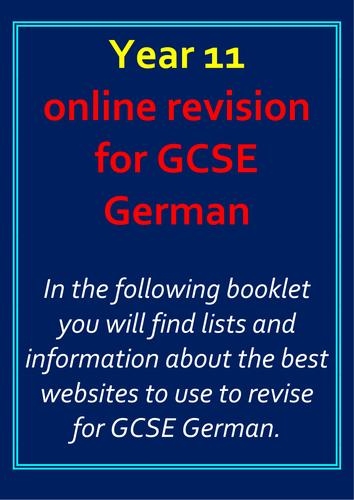 Aqa gcse german coursework