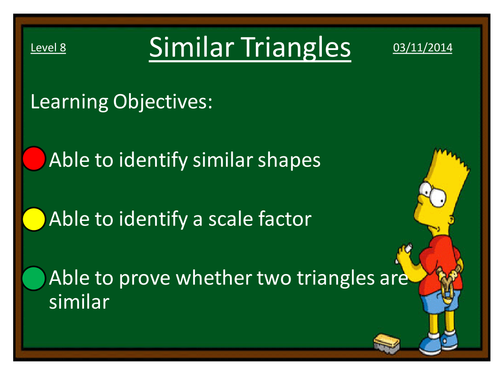KS3KS4 Maths Similar Triangles by dannytheref Teaching – Similar Triangles Worksheet Pdf