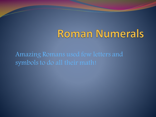 Roman Numbers made easy