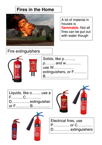 Standard Grade Science: Fire safety