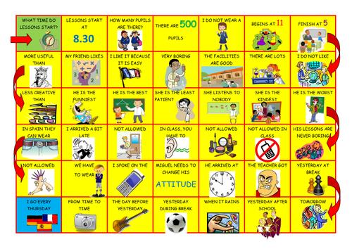 Mira 3 rojo module 2 school: Spanish speaking game
