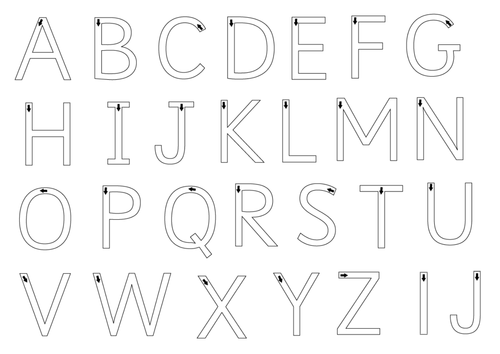 Free Printable Letter Formation Sheets