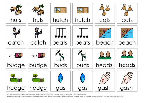 Articulation-practise word-final sh,ch,j