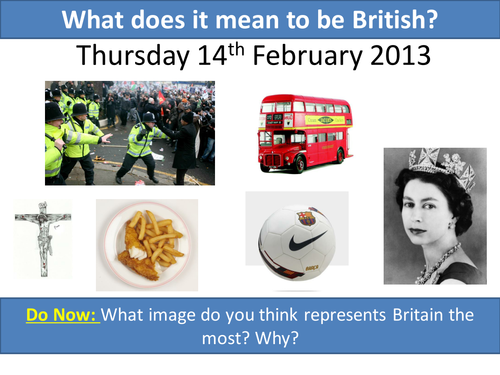Communities; What does it mean to be British?