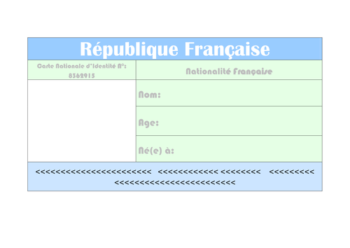 French Identity Card