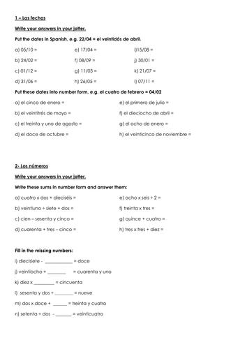 Spanish Extension Tasks - Beginner's Level   Teaching ...