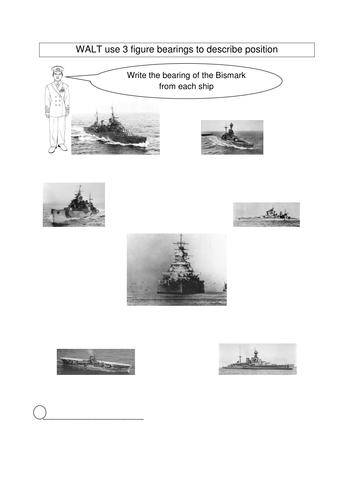 Battle of Britain; KS2 maths bearings activities