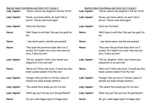 romeo and juliet relationship with parents