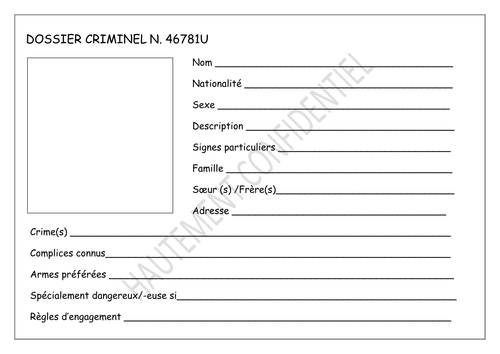 French G & T- \'Criminal record\' template by gianfrancoconti1966 ...